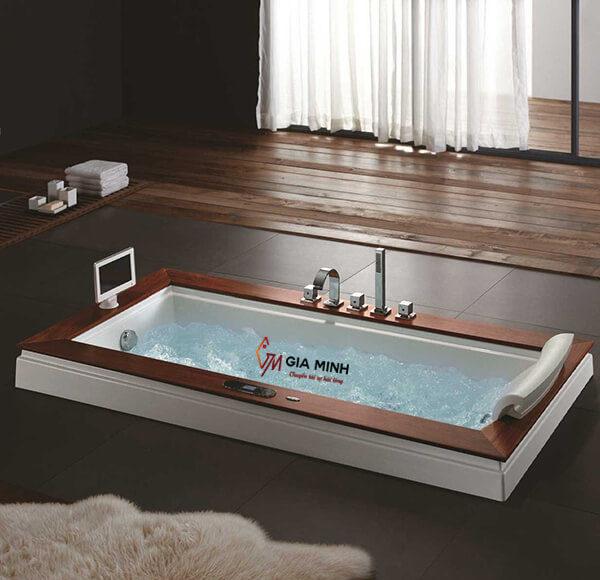 Hình ảnh bồn tắm xây massage kiểu chữ nhật