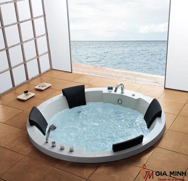 Hình ảnh bồn tắm xây kiểu tròn